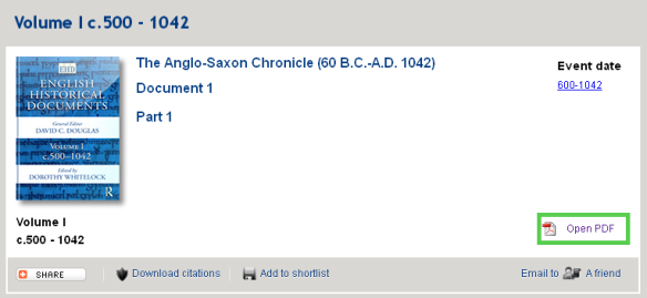 Anglo Saxon chronicle