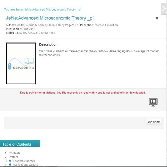 advanced microeconomic theory dawsonera pearson