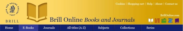 Brill banner ebooks