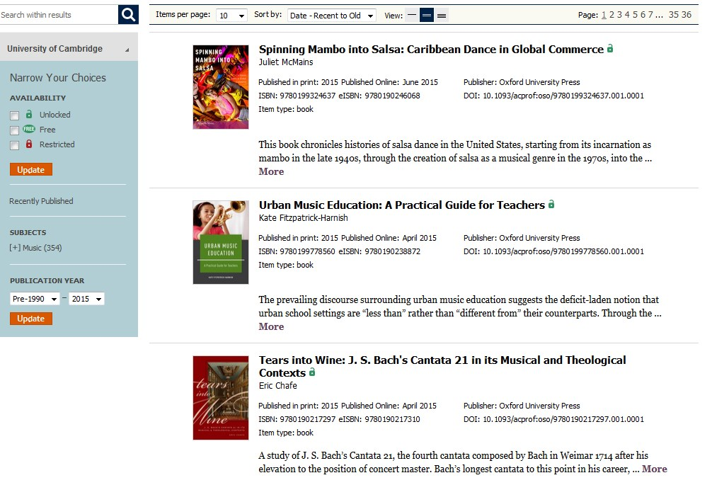 university press scholarship online ebooks
